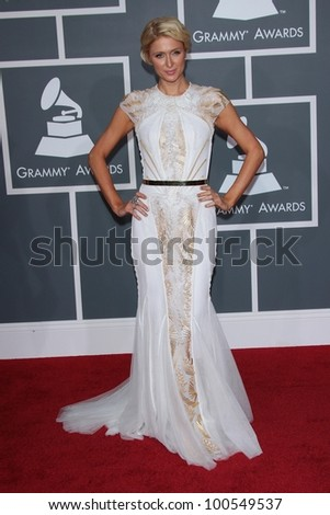 Paris Hilton at the 54th Annual Grammy Awards, Staples Center, Los Angeles, CA 02-12-12