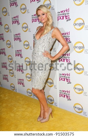 """Paris Hilton at """"The World According to Paris"""" Premiere Party, Roosevelt Hotel, Hollywood, CA 05-17-11 - stock photo"""