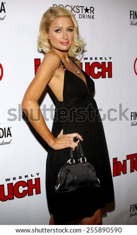 Paris Hilton attends the Summer Stars Party 2008 held at the Social in Hollywood, California, United States on May 22, 2008.  - stock photo