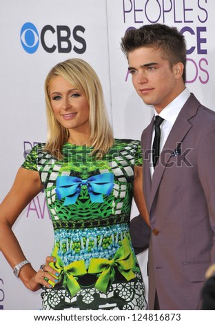 Paris Hilton & River Viiperi at the People's Choice Awards 2013 at the Nokia Theatre L.A. Live. January 9, 2013  Los Angeles, CA Picture: Paul Smith