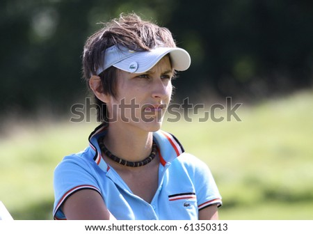 PARIS INTERNATIONAL GOLF CLUB, FRANCE - SEPTEMBER 11 :  Lucie Andre (FRA) at Ladies European Golf Tour, The French Open, september 11, 2010, at  Paris international golf club, France.