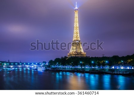 PARIS - JULY 12, 2013: Eiffel Tower on July 12, 2013 in Paris. E