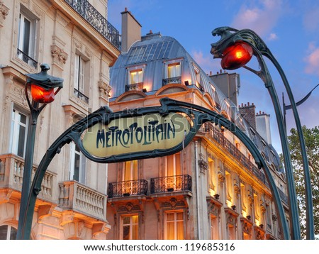 paris july 20 metropolitain sign saint michel stock photo royalty free 119685316 shutterstock. Black Bedroom Furniture Sets. Home Design Ideas