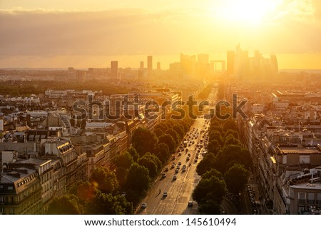Paris la D�©fense - stock photo