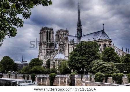 Paris, Notre Dame - stock photo