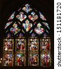 PARIS - NOV 07, 2012: Passion and Resurrection of Christ, church is dedicated Gervasius and Protasius is one of the oldest in Paris. Known for its richly painted stained glass, Paris on Nov 07, 2012 - stock photo