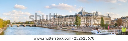 PARIS - OCTOBER 9: D'Orsay museum building on October 9, 2014 in Paris, France. The Musee d'Orsay is a museum in Paris, on the left bank of the Seine. - stock photo