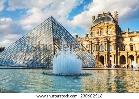 PARIS OCTOBER 9 Louvre Pyramid On Stock Photo Royalty Free