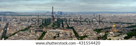 Paris - panorama. Town, France,