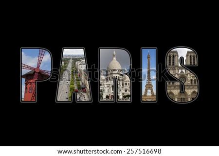 Paris photo collage. - stock photo