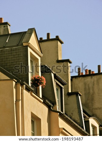Paris rooftops and windows