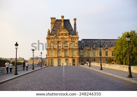 PARIS - SEP 07: street of Paris on September 07, 2014 in Paris, France. Paris, aka City of Love, is a popular travel destination and a major city in Europe - stock photo