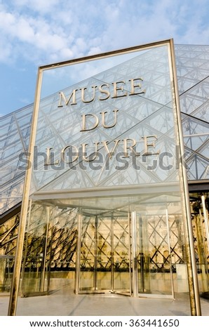 Paris - SEPTEMBER 18, 2012: Louvre Museum on September 18 in Paris - stock photo