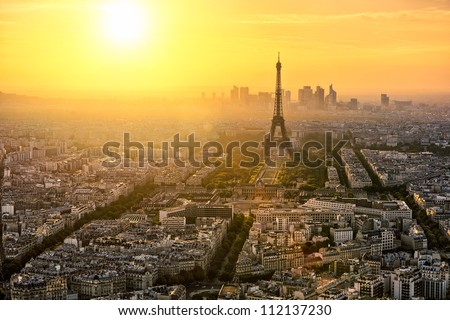 Paris skyline - stock photo