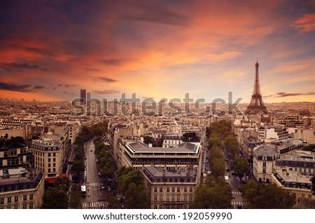 Paris Skyline - stock photo