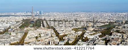Paris skyline panorama - stock photo