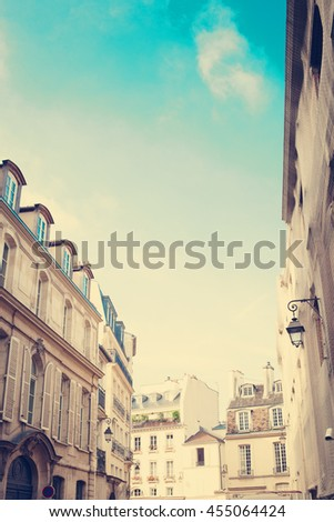 Paris street in a summer day