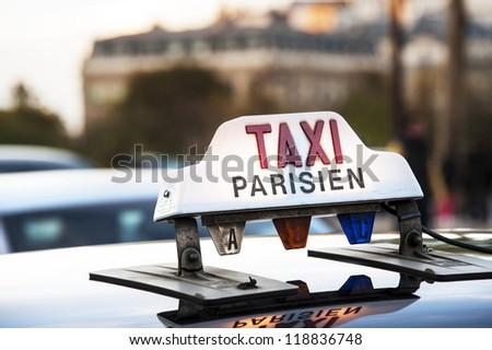 Paris - Taxi - stock photo