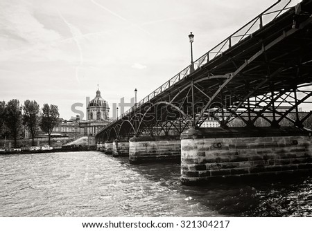 Paris, the bridge on the Seine
