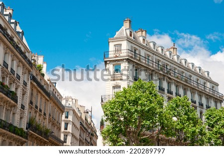 Paris, typical building architecture