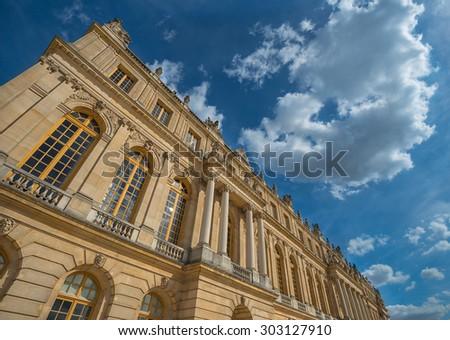Paris Versailles Palace on sunny day  - stock photo
