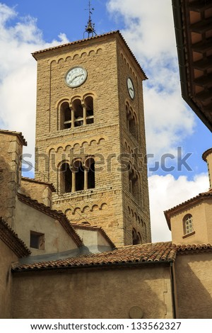 Parish Church of Sant Genis, Taradell in Catalonia, Spain.