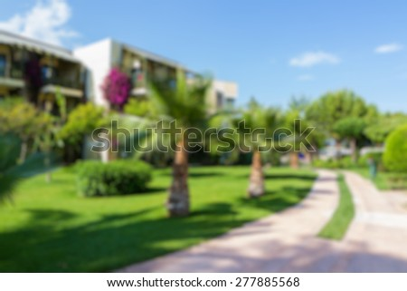 park area abstract blur background - stock photo