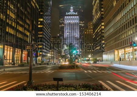 Park Avenue New York City - stock photo