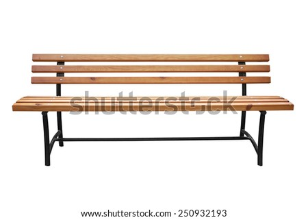 Park bench isolated over a white background