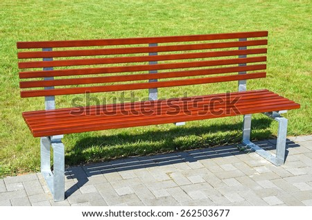 Park bench outdoors
