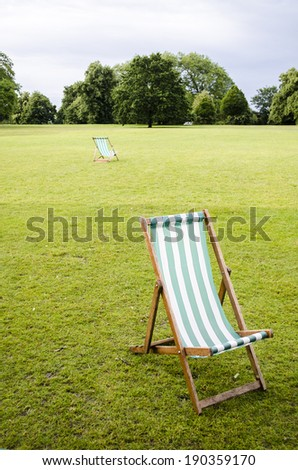 park chair on lawn