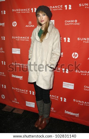 "PARK CITY - JAN 20: Taylor Swift arrives at the premiere of ""Ethel"" at the Sundance Film Festival in Park City, Utah on January 20, 2012."