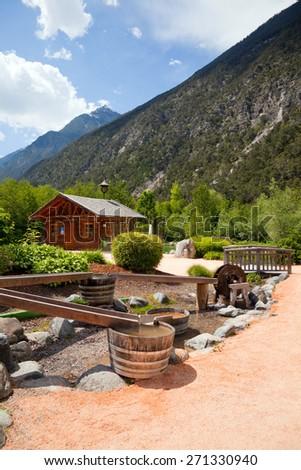Park for leisure time in Tirol, Austria - stock photo