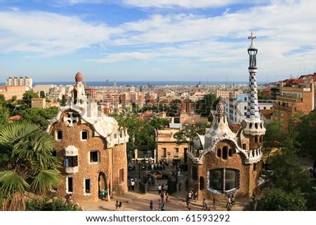 Park Guell - Barcelona - stock photo