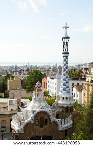 Park Guell Building - Barcelona - Spain