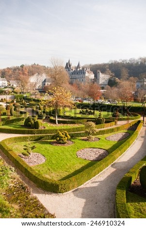 Park in Durbuy - stock photo