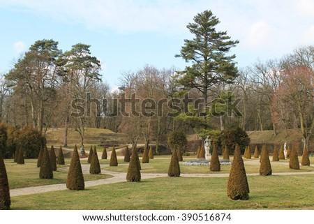 park in Rogalin, Poland - stock photo