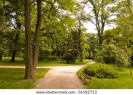 Park in spring time - stock photo