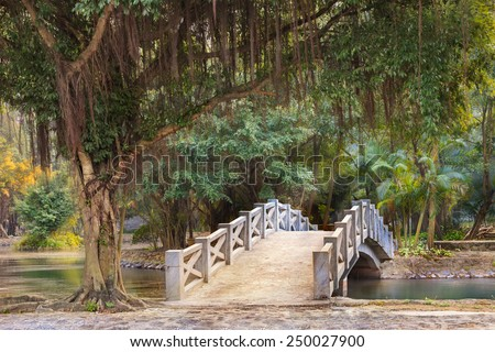 park near Mua Cave in Ninh Binh, Vietnam - stock photo