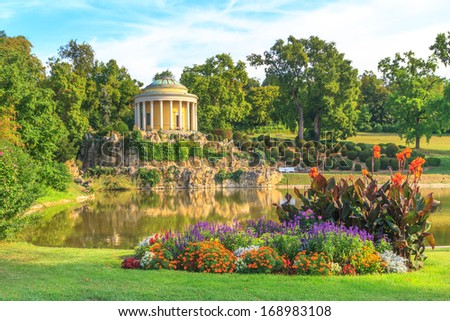 Park of Esterhazy Palace, Leopoldina Temple, Eisenstadt, Austria - stock photo