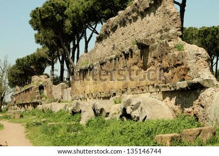 park of rome city - stock photo