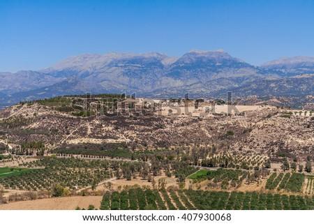 park on Crete, Greece - stock photo