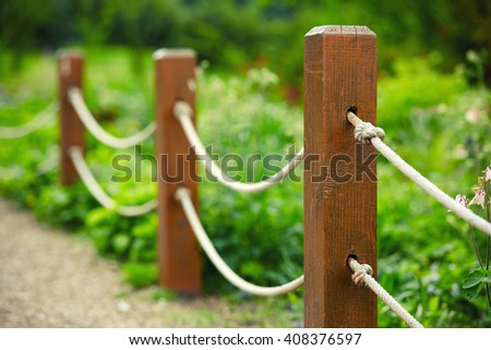 park rope fence