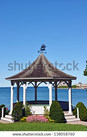 Park shelter in Niagara on the Lake, Ontario - stock photo