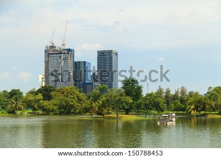 Park with building background