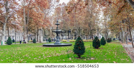 Park Zrinjevac in center of Zagreb, Croatia