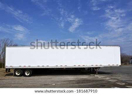 Parked trailer ready for pick up. - stock photo