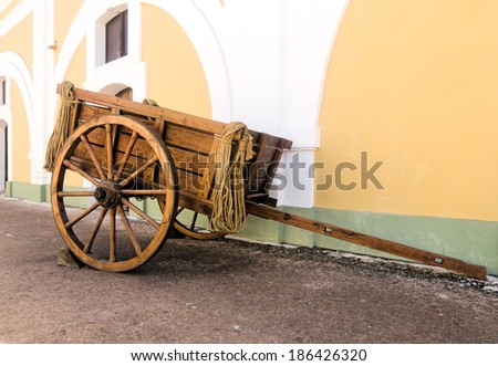 Parked Wooden Cart