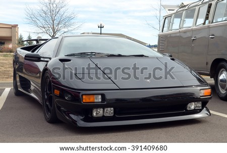 PARKER, COLORADO - MARCH 12, 2016: Lamborghini Diablo