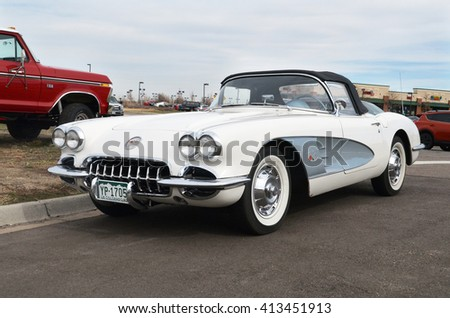 PARKER, COLORADO, USA - MARCH 12, 2016: 1960 Chevrolet Corvette